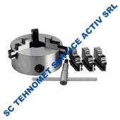 Universal 125 mm autocentrant de precizie cu 6 bacuri