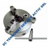 Universal 200 mm autocentrant de precizie cu 3 bacuri reversibile