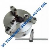 Universal 250 mm autocentrant de precizie cu 3 bacuri reversibile